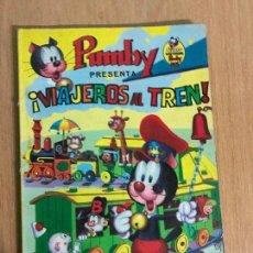 Tebeos: LIBROS ILUSTRADOS PUMBY Nº 4. VIAJEROS AL TREN. EDITORIAL VALENCIANA 1968. Lote 78431641