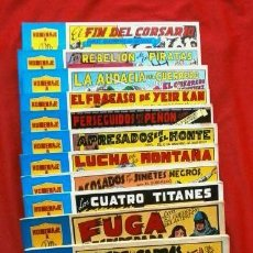 Tebeos: EL GUERRERO DEL ANTIFAZ (LOTE 12 TOMOS) (SERIE AZUL) - ED. VALENCIANA 1981. Lote 79027081
