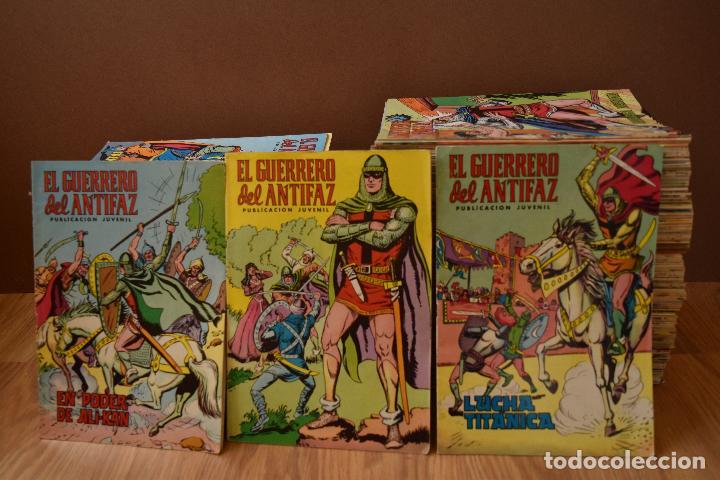 Tebeos: EL GUERRERO DEL ANTIFAZ COLOR 1 AL 343 COMPLETA, MUY BUEN ESTADO Y SUELTA - Foto 3 - 79173097