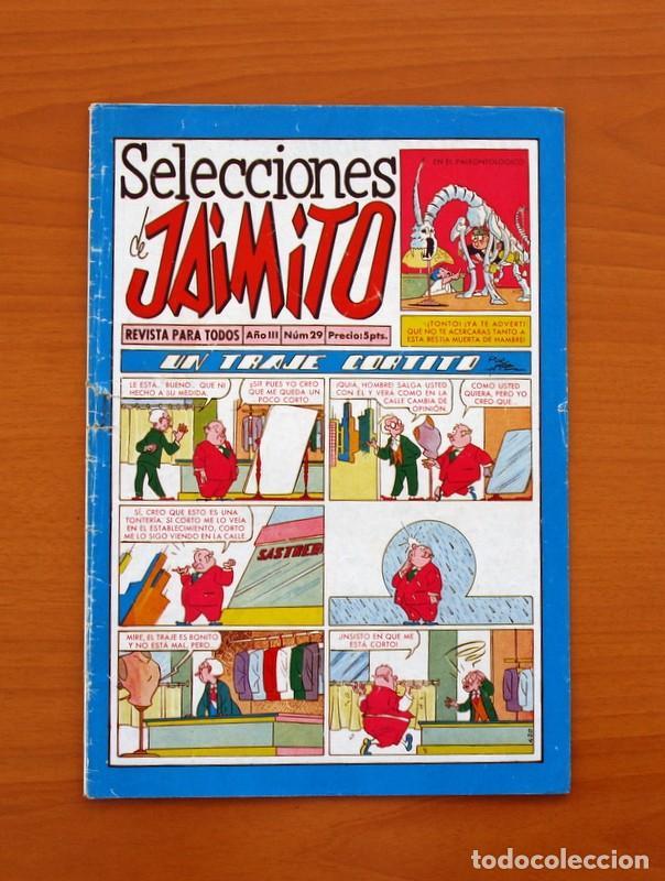 SELECCIONES DE JAIMITO, Nº 29 - EDITORIAL VALENCIANA 1957 (Tebeos y Comics - Valenciana - Jaimito)