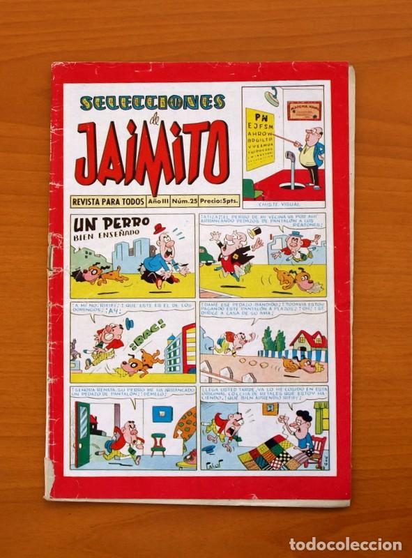 SELECCIONES DE JAIMITO, Nº 25 - EDITORIAL VALENCIANA 1957 (Tebeos y Comics - Valenciana - Jaimito)