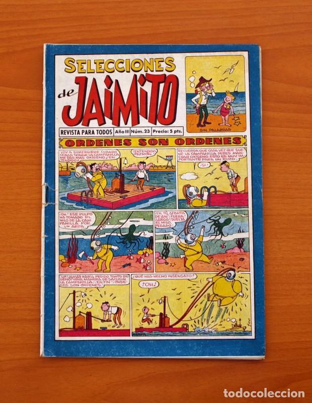 SELECCIONES DE JAIMITO, Nº 23 - EDITORIAL VALENCIANA 1957 (Tebeos y Comics - Valenciana - Jaimito)