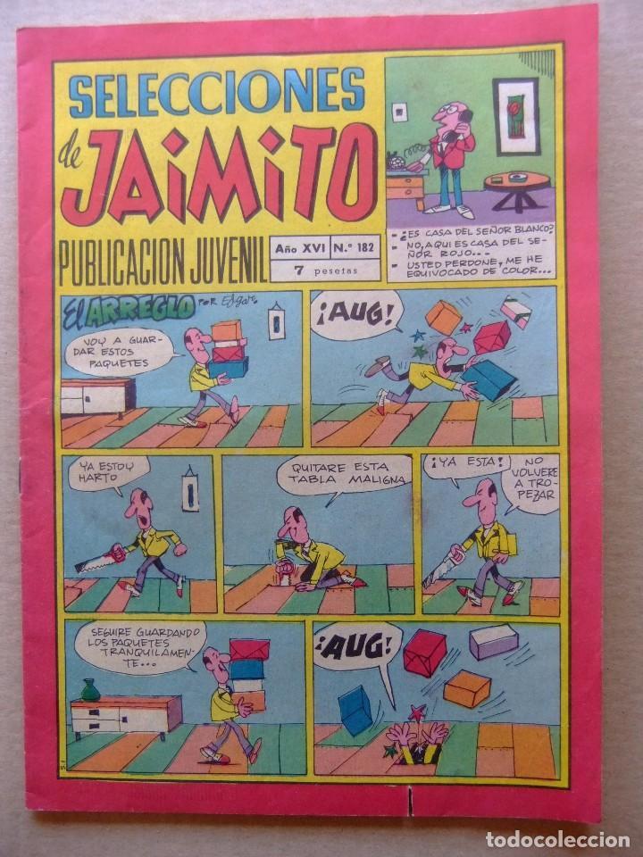 SELECCIONES DE JAIMITO Nº 182 EDITORIAL VALENCIANA (Tebeos y Comics - Valenciana - Jaimito)