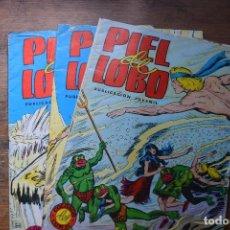 Tebeos: PIEL DE LOBO Nº 11, 12 Y 13, VALENCIANA, 1980. Lote 80801667