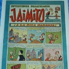 Tebeos: DIVERTIDOS PASATIEMPOS DE JAIMITO Nº 110 - ORIGINAL DE VALENCIANA 1945 - PERFECTO- LEER. Lote 84355996