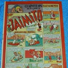 Tebeos: CHAPOTEOS ALEGRES DE JAIMITO Nº 71 - ORIGINAL DE VALENCIANA 1945 - PERFECTO - IMPORTANTE LEER DESCRI. Lote 84357800