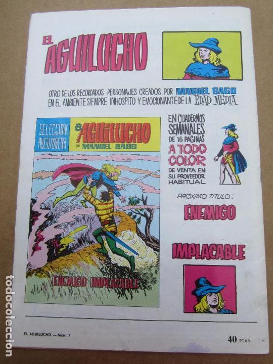 Tebeos: seleccion aventurera , el aguilucho , n. 7 manuel gago , valenciana - Foto 3 - 84451956
