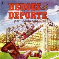 Tebeos: HÉROES DEL DEPORTE - Nº 1 - GRAN AMBRÓS- MEMORABLES HISTORIAS DE PEDRO QUESADA-FLAMANTE-1983-6270. Lote 84625132