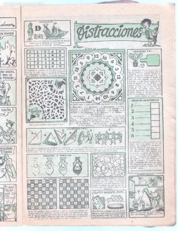 Tebeos: JAIMITO ALMANAQUE DE 1958 ORIGINAL - EN MUY BUEN ESTADO - Foto 4 - 85462320