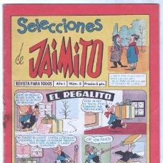 Tebeos: SELECCIONES DE JAIMITO ORIGINAL Nº 8 CON HISTORIA DE EL VENGADOR POR EDMUNDO MARCULETA. Lote 85463012