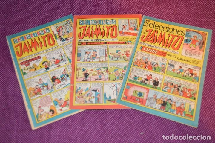 LOTE 3 TEBEOS - SELECCIONES JAIMITO - 64, 65, 66 - VALENCIANA - MUY ANTIGUOS - ¡HAZME OFERTA! - L01 (Tebeos y Comics - Valenciana - Jaimito)