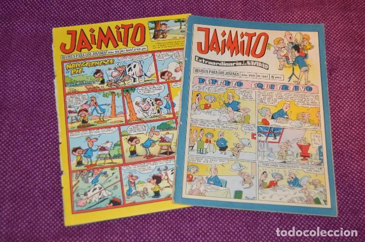LOTE 2 TEBEOS - JAIMITO - 805 Y 687 EXTR. NAVIDAD - VALENCIANA - MUY ANTIGUOS - ¡HAZME OFERTA! - L02 (Tebeos y Comics - Valenciana - Jaimito)