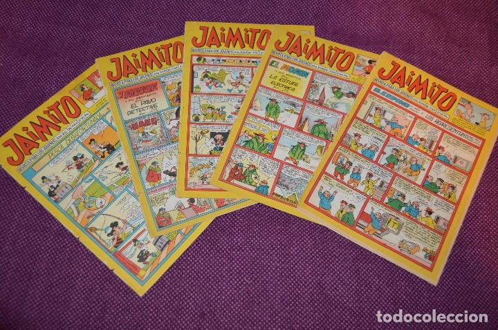 LOTE 5 TEBEOS - JAIMITO - 733, 739, 741, 742, 744 - VALENCIANA - MUY ANTIGUOS - ¡HAZME OFERTA! - L03 (Tebeos y Comics - Valenciana - Jaimito)