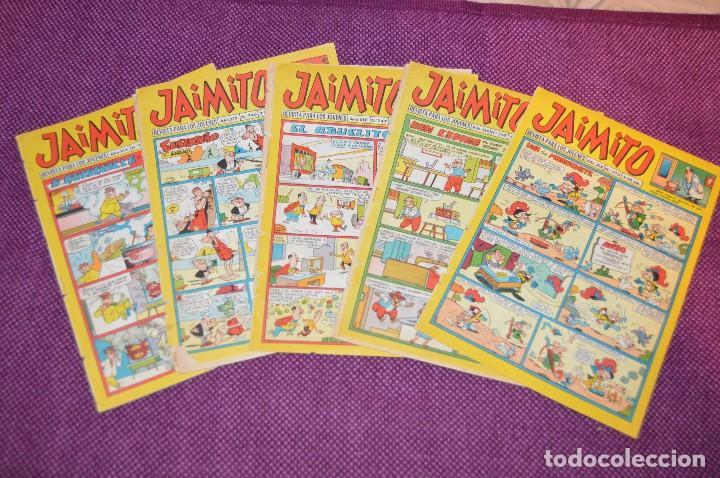 LOTE 5 TEBEOS - JAIMITO - 745, 746, 747, 749, 772 - VALENCIANA - MUY ANTIGUOS - ¡HAZME OFERTA! - L04 (Tebeos y Comics - Valenciana - Jaimito)