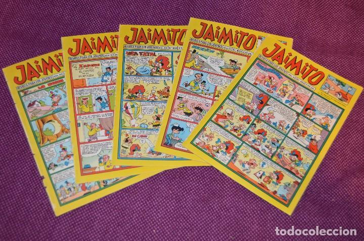 LOTE 5 TEBEOS - JAIMITO - 800, 801, 802, 803, 804 - VALENCIANA - MUY ANTIGUOS - ¡HAZME OFERTA! - L08 (Tebeos y Comics - Valenciana - Jaimito)