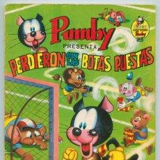 Tebeos: LIBROS ILUSTRADOS PUMBY - Nº 6 - PERDIERON CON LAS BOTAS PUESTAS - ED. VALENCIANA - 1968. Lote 88986268