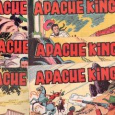 Tebeos: APACHE KING ORIGINAL COMPLETA - 1 AL 28 - 1962 EDI. VALENCIANA, MAGNÍFICO ESTADO, VER LAS PORTADAS. Lote 89217740