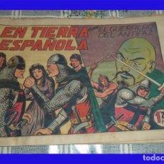 Tebeos: GUERRERO DEL ANTIFAZ N.º 126 EN TIERRA ESPAÑOLA ORIGINAL DE ÉPOCA ED. VALENCIANA 1,25 PTAS. . Lote 89693892