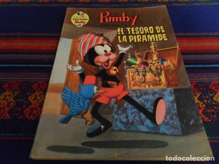 LIBROS ILUSTRADOS PUMBY Nº 48 EL TESORO DE LA PIRÁMIDE. VALENCIANA 1972. 40 PTS. BE. DIFÍCIL. (Tebeos y Comics - Valenciana - Pumby)