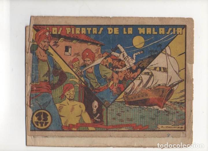 LOS PIRATAS DE LA MALASIA. SELECCION AVENTURERA . ORIGINAL. EDITORIAL VALENCIANA 1940 (Tebeos y Comics - Valenciana - Selección Aventurera)