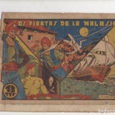 Tebeos: LOS PIRATAS DE LA MALASIA. SELECCION AVENTURERA . ORIGINAL. EDITORIAL VALENCIANA 1940. Lote 90452954
