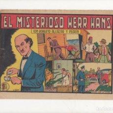 Tebeos: EL MISTERIOSO HERR HANS. Nº 339 DE ROBERTO ALCAZAR Y PEDRIN. VALENCIANA.1956. DIBUJA EDUARDO VAÑO. Lote 90462044
