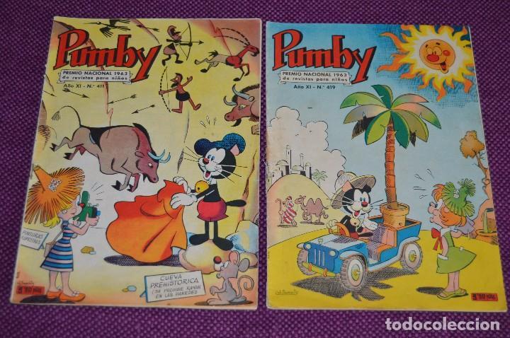 LOTE DE 2 NÚMEROS - SUPER PUMBY - EDITORIAL VALENCIANA - ANTIGUO Y ORIGINAL - HAZME UNA OFERTA (Tebeos y Comics - Valenciana - Pumby)