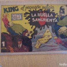 Tebeos: VALENCIANA,- KING EL PEQUEÑO POLICÍA º 13 LA HUELLA SANGRIENTA. Lote 91695070