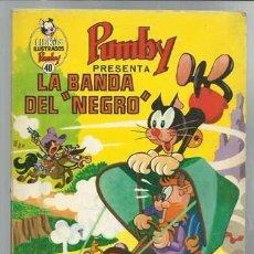 Tebeos: LIBROS ILUSTRADOS PUMBY 40: LA BANDA DEL NEGRO, 1971, VALENCIANA, BUEN ESTADO. Lote 92427860