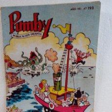 Tebeos: PUMBY Nº 193 DEL AÑO 1961. Lote 92955170
