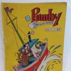 Tebeos: TEBEO PUMBY Nº213 DEL AÑO 1961. Lote 92955400