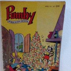 Tebeos: PUMBY Nº 219 DEL AÑO 1961. Lote 92955660