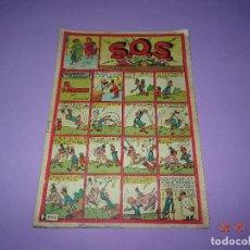Tebeos: ANTIGUO S.O.S. SOS Nº 41 CON HISTORIETAS - AMENIDADES - CHISTES - AVENTURAS DE EDITORIAL VALENCIANA. Lote 94143535