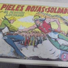 Tebeos: TEBEO. PIELES ROJAS Y SOLDADOS CON EL PEQUEÑO LUCHADOR. Nº 155. Lote 95669471