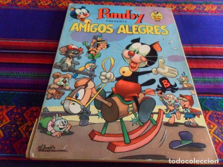 LIBROS ILUSTRADOS PUMBY Nº 1. VALENCIANA 1967 35 PTS. AMIGOS ALEGRES. BUEN ESTADO Y RARO. (Tebeos y Comics - Valenciana - Pumby)