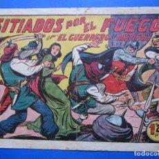 Tebeos: EL GUERRERO DEL ANTIFAZ , N.158, SITIADOS POR EL FUEGO , VALENCIANA. Lote 96091635