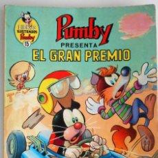 Tebeos: LIBROS ILUSTRADOS PUMBY Nº 15 - EL GRAN PREMIO - EDITORIAL VALENCIANA 1969. Lote 96690671