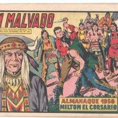 Tebeos: MILTON EL CORSARIO ORIGINAL Nº 47 - ALMANAQUE 1958 - AVENTURA DE J.SANCHÍS - EL PIRATA MANOLITO. Lote 98165311