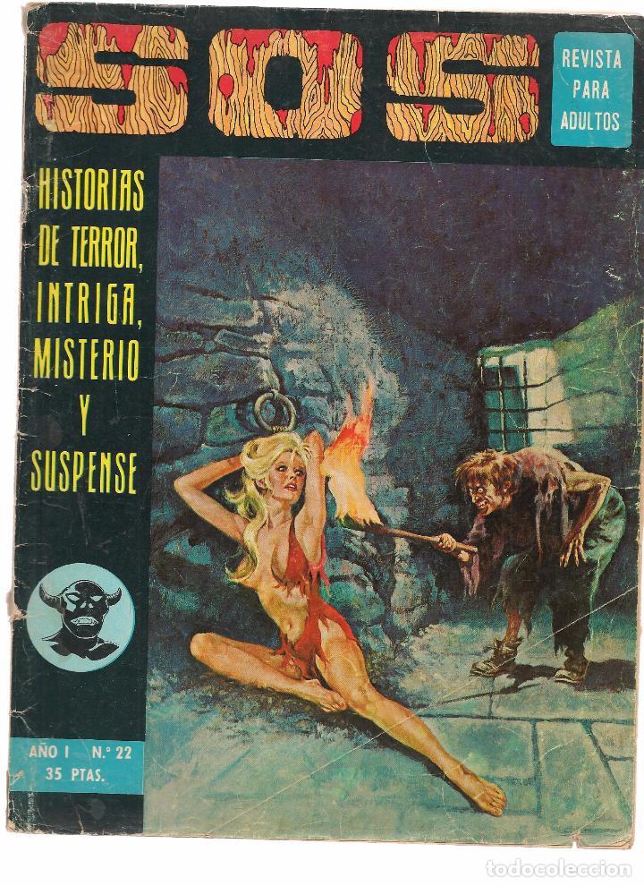 S O S. HISTORIAS DE TERROR, INTRIGA, MISTERIO Y SUSPENSE. Nº 22. EDITORIAL VALENCIANA 1975. (ST/) (Tebeos y Comics - Valenciana - S.O.S)