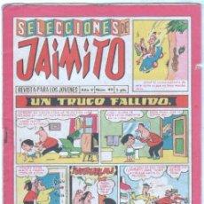 Tebeos: SELECCIONES DE JAIMITO Nº 49 - VALENCIANA 1958. Lote 98810563