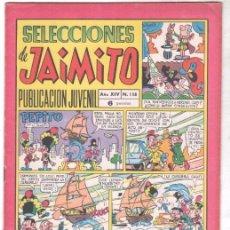 Tebeos: SELECCIONES DE JAIMITO Nº 158 DIFICIL, MUY BUENA CONSERVACIÓN. Lote 99658543