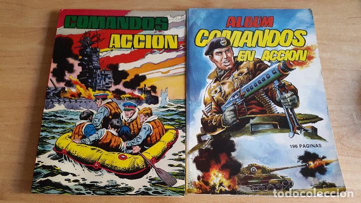 LOTE 2 TEBEOS - COMICS COMANDOS EN ACCIÓN - TOMO 2 Y 4 (VER FOTO ADICIONAL) (Tebeos y Comics - Valenciana - Otros)