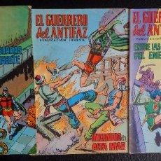 Tebeos: LOTE DE 3 COMICS EL GUERRERO DEL ANTIFAZ PUBLICACIÓN JUVENIL. Lote 99914571