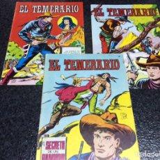 Tebeos: EL TEMERARIO - LOTE DE 3 EJEMPLARES Nº 1,2,10. Lote 26608865