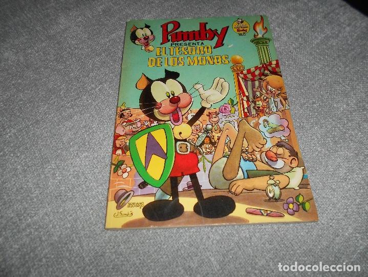 PUMBY ALBUM LIBROS ILUSTRADOS Nº 9 EL TESORO DE LOS MONOS ORIGINAL VALENCIANA PERFECTO (Tebeos y Comics - Valenciana - Pumby)