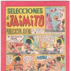Tebeos: SELECCIONES DE JAIMITO Nº 168 , MUY BUENA CONSERVACIÓN, CRUCIGRAMAS SIN HACER. Lote 100653735