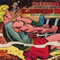 Tebeos: ORIGINAL-HAZAÑAS DE LA JUVENTUD AUDAZ EL JUSTICIERO NEGRO. NÚMERO 9. MUY BUEN ESTADO. Lote 101136843