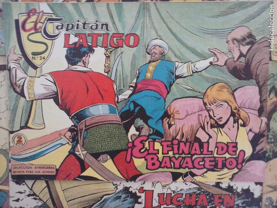 Tebeos: EL CAPITÁN LÁTIGO ORIGINAL COMPLETA 1 AL 24 - 1962 F. CABEDO, BUENA-MUY BUENA CONSERVACIÓN,ver fotos - Foto 17 - 101164427