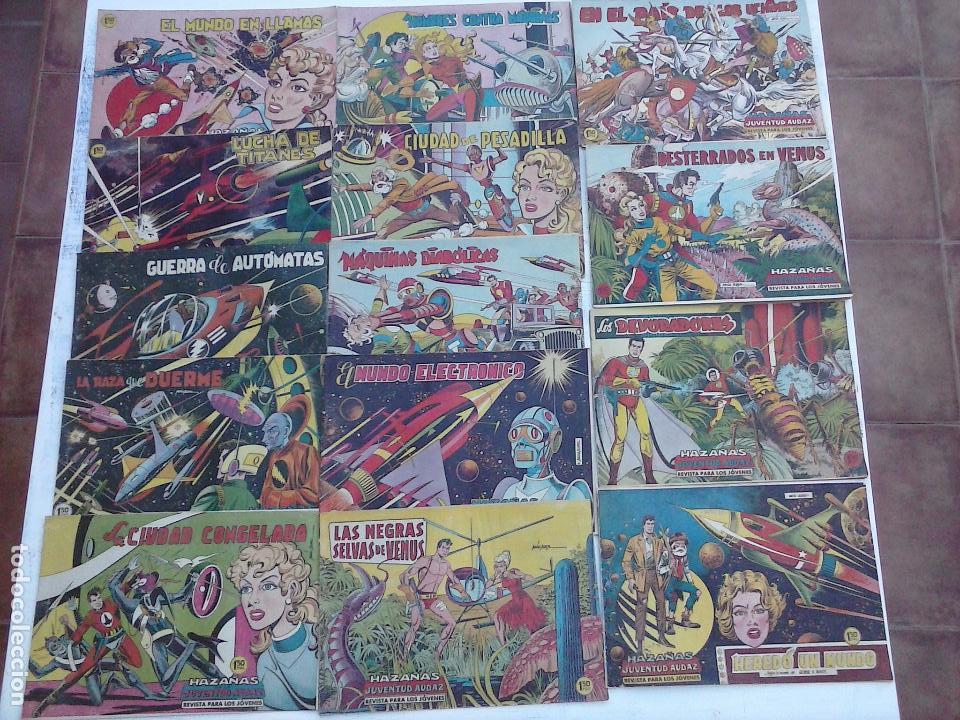 HAZAÑAS DE LA JUVENTUD AUDAZ ORIGINAL COMPLETA 1 AL 44 MUY BUENA CONSERVACIÓN, VER FOTOS DE TODOS (Tebeos y Comics - Valenciana - Otros)