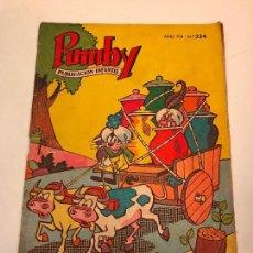 Tebeos: PUMBY Nº 234. VALENCIANA 1962. Lote 101570591